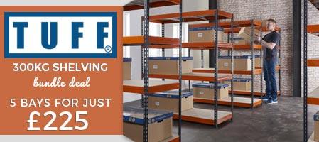 Shop TUFF 300Kg Industrial Shelving