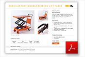 Premium TUFF Double Scissor Lift Tables Specification