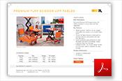 Premium TUFF Scissor Lift Tables Specification
