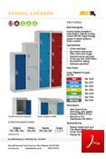 Primary School Lockers Data Sheet