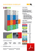 Probe ShockBox Overlay Laminate Lockers Data Sheet