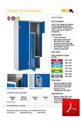 Steel Z Lockers Data Sheet