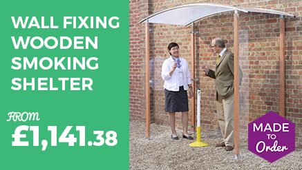 Wall Fixing Wooden Smoking Shelter