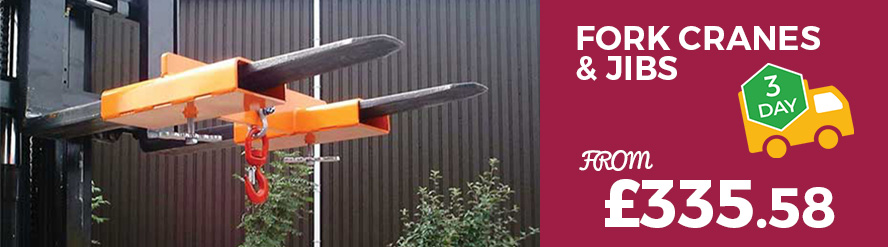 Shop our fork cranes & jibs from just £329.00 with Free 3 Day Delivery.