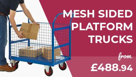 Mesh Sided Platform Trucks
