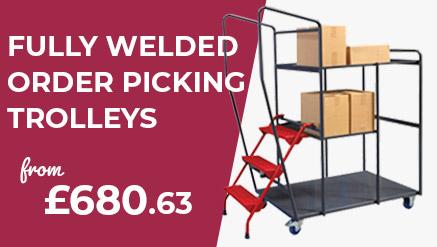 Welded Order Picking Trolleys