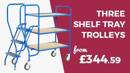 3 Shelf Picking Trolley