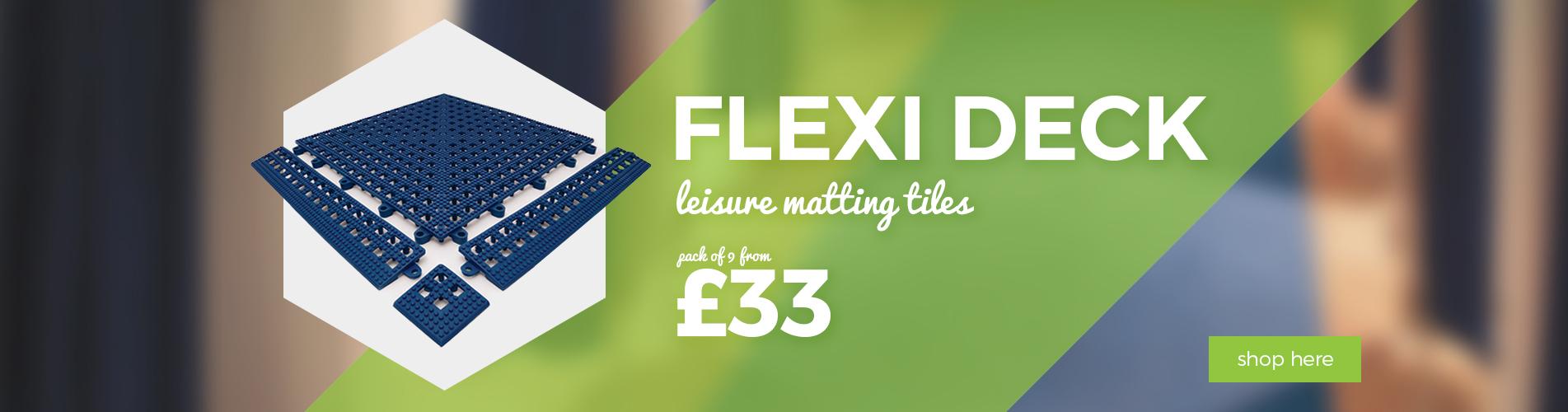 Shop our Flexi Deck Leisure Tiles