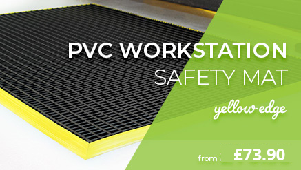 PVC Workstation Mat with Yellow Edge