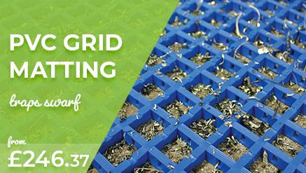 PVC Grid Workplace Mat to Trap Swarf