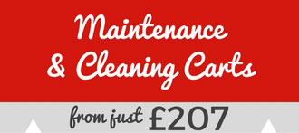 maintenance cleaning carts from £207
