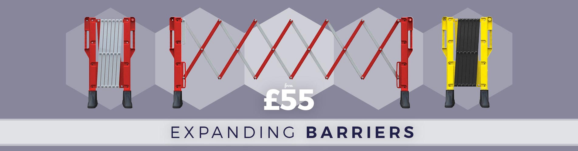 Shop quality Expanding Barriers available with Next Day Delivery