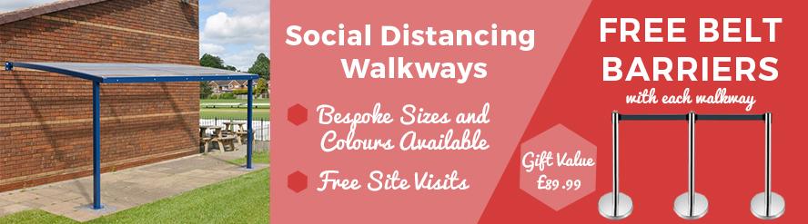 Social Distancing Walkways Cat Banner
