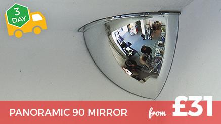 Panoramic 90 Hemisphere Mirrors