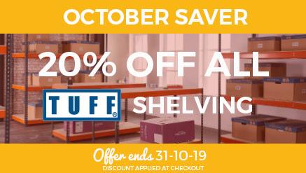 October Saver - 20% off TUFF Shelving