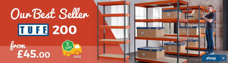 TUFF 200kg Shelving - Our Best Seller