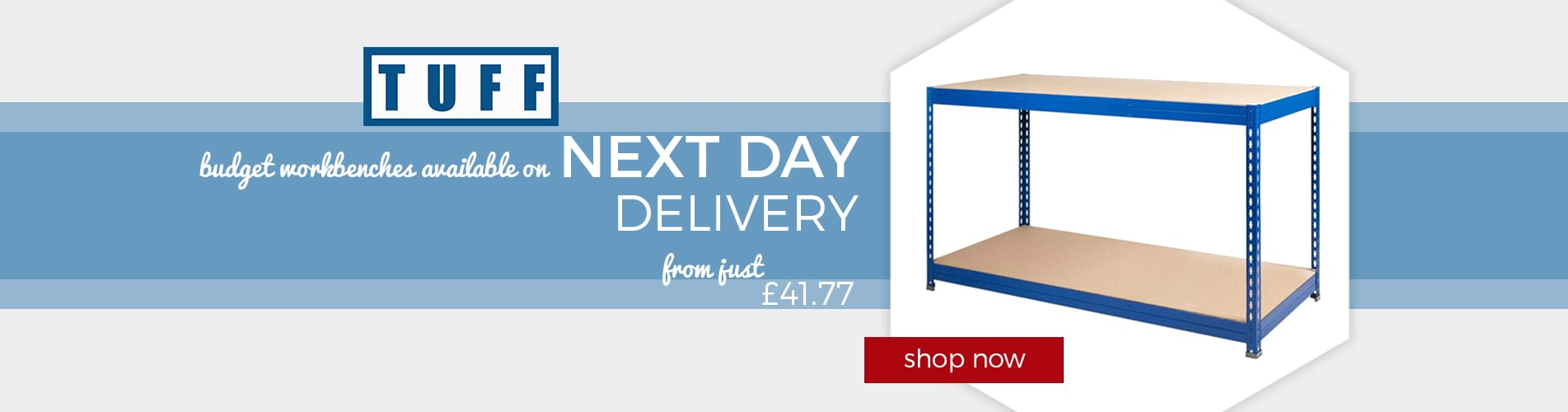 Shop Budget Workbenches available on Next Day Delivery
