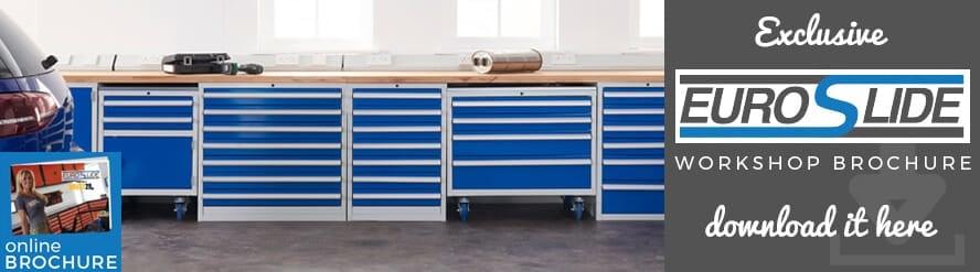 Introducing UK Manufactured Euroslide Drawer Cabinets Workshop Systems.
