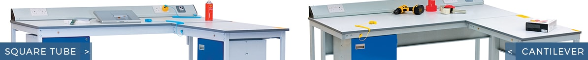Square Tube ESD Workbenches vs Cantilever ESD Workbenches